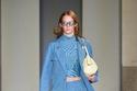 بذلة تنورة باللون الأزرق المميز من Salvatore Ferragamo