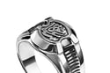 Sterling silver Men's ring with calligraphy for men