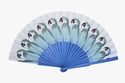 Duvelleroy Blue Parrot hand-fan