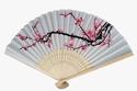 Favor Warehouse delicate cherry-blossom design silk folding fan favors