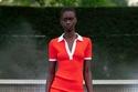 فستان تنسي أحمر قصير مع Biker من David Koma