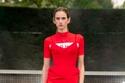 Bodysuit وBiker وT-Shirt أحمر أنيق من David Koma