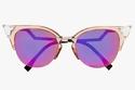 Fendi Swarovski crystal-embellished cat-eye acetate and metal sunglasses