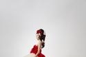 فستان أنيق من اللونين الأحمر و الأبيض