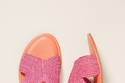 من Colorblocked Raffia Sandals بـ78 دولاراً