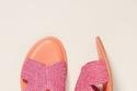 من  Colorblocked Raffia Sandals بـ78 دولاراً