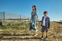 Farah Behbehani and her kid Mohammed Al Meshaan