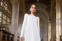 فستان أبيض قصير من Carolina Herrera