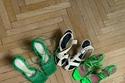 أحذية صيفية ساحرة بدرجات الأخضر