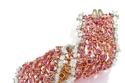 سوار مرن من الماسات الوردية في مزاد Sotheby