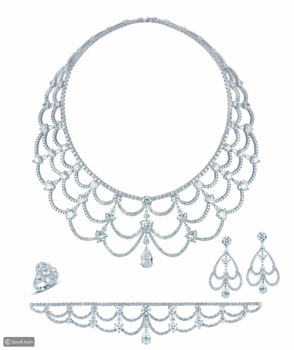 مجوهرات راقية للعروس من تصميم معوض