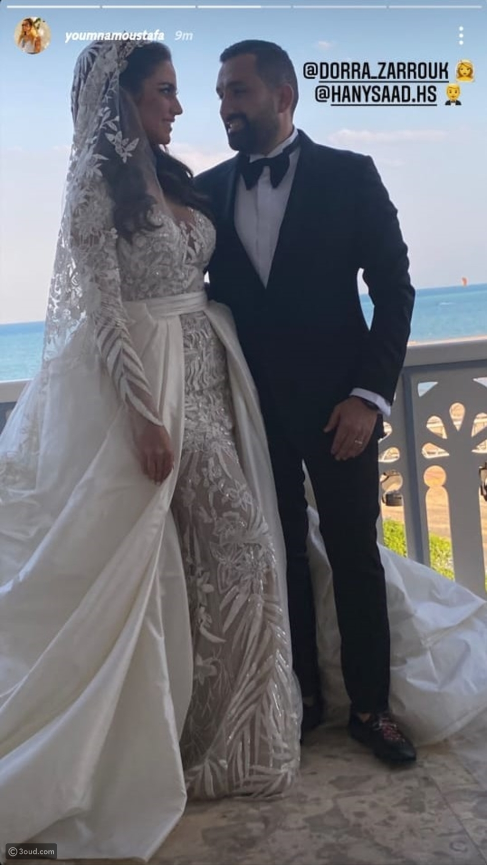 درة أنيقة بفستان زفاف من زهير مراد