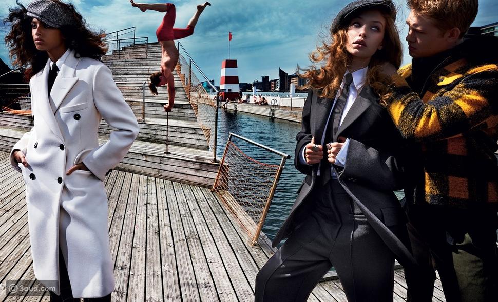 جيجي حديد وإيمان همام في أزياء رجالي لخريف 2017