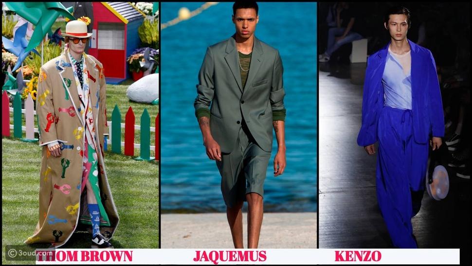 الأزرق سيد الألوان في أسبوع الموضة الرجالية في باريس