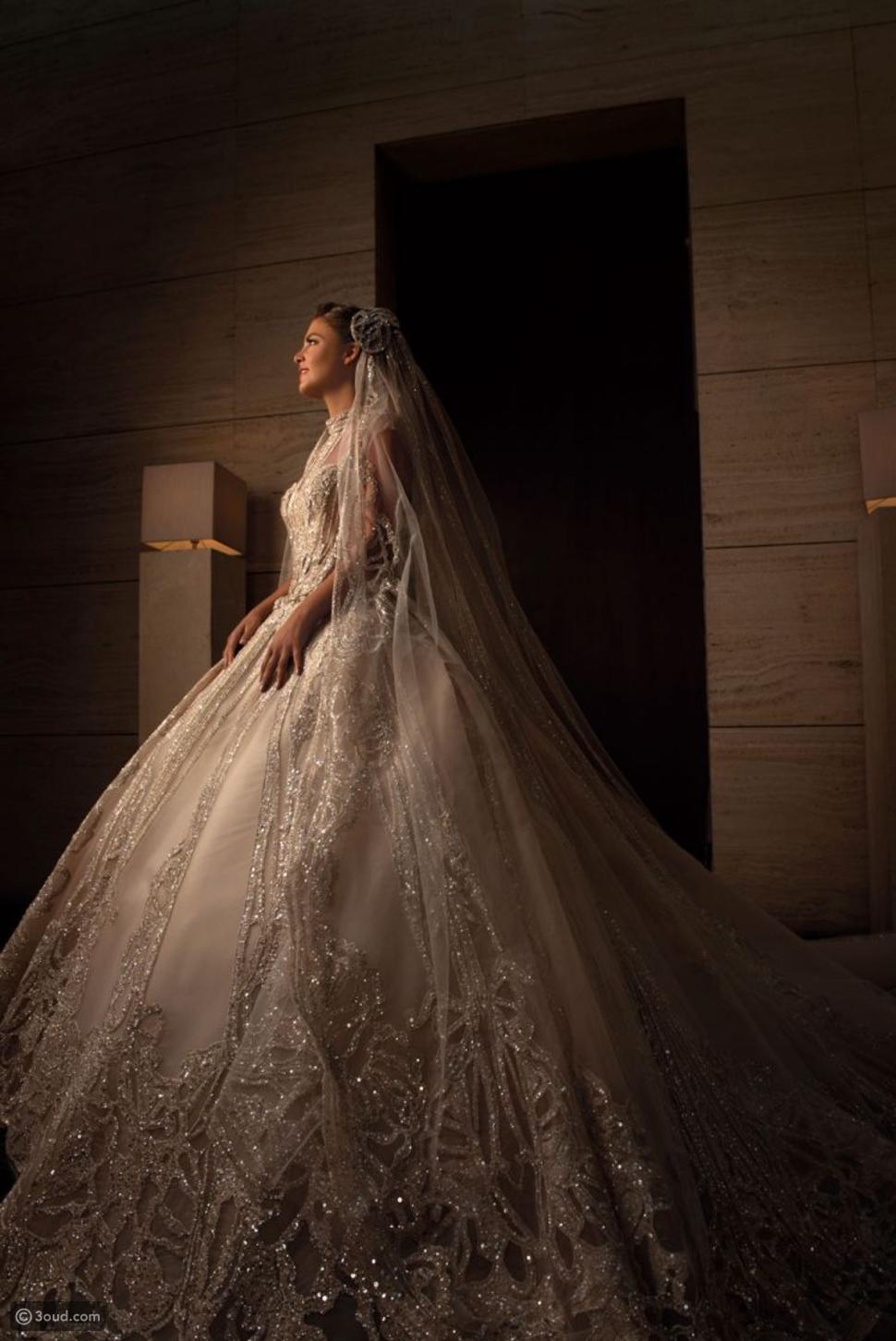 النظرة الأولى إلى إطلالة عروس إيلي صعب جونيور الخلابة