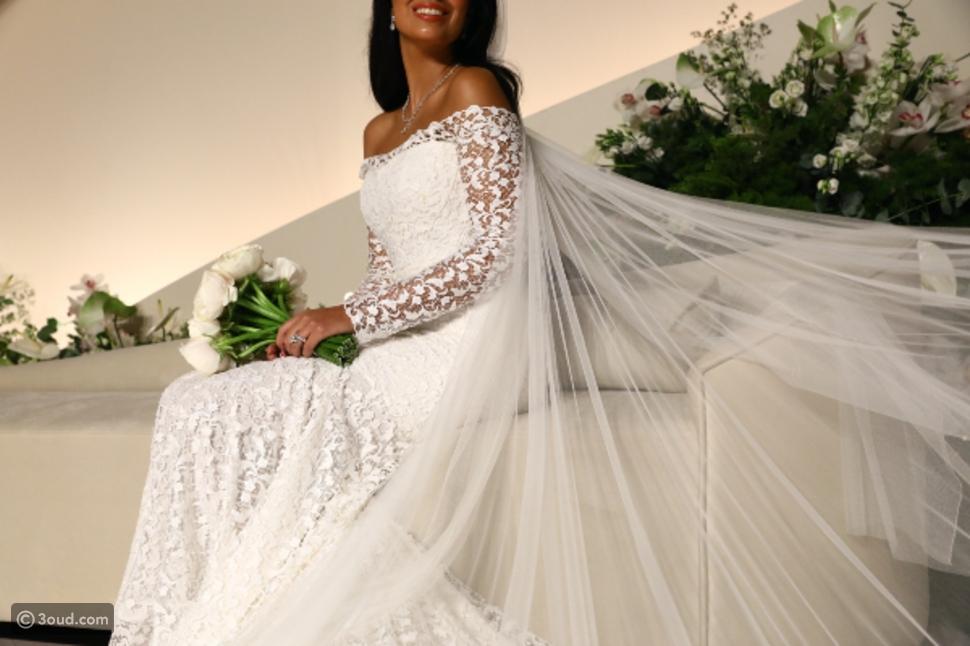حصة السبيعي تتألق بيوم زفافها بتصميم من عز الدين علايا