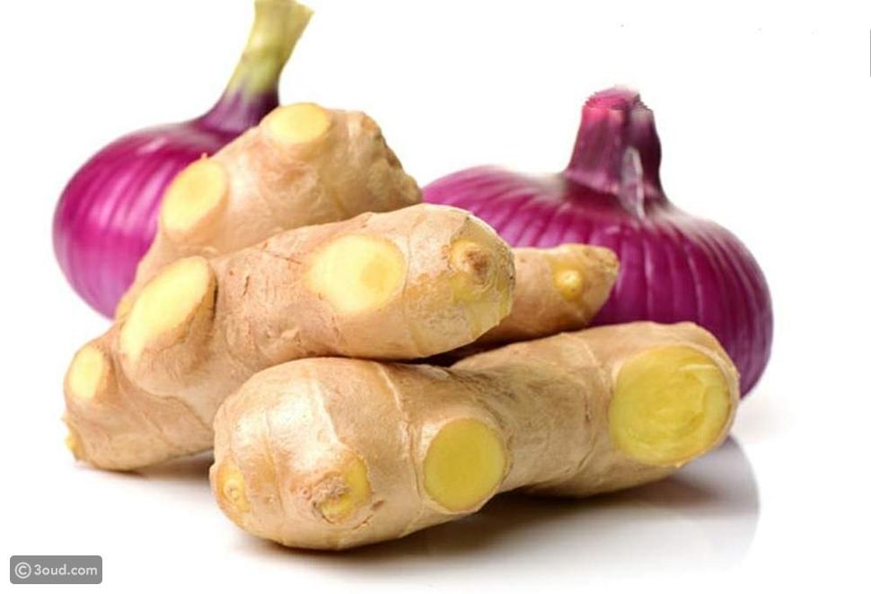 عصير البصل والزنجبيل