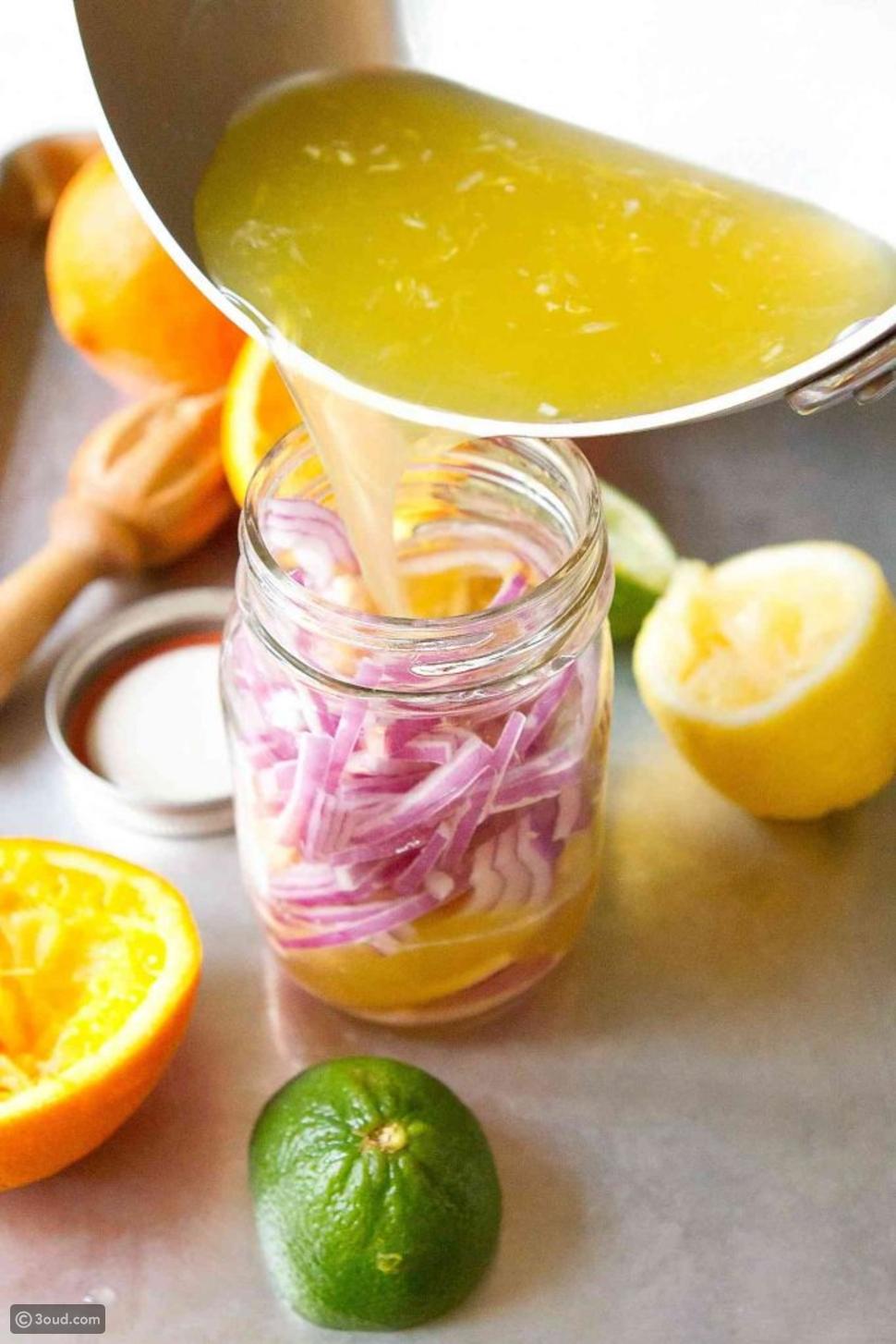 عصير البصل والليمون