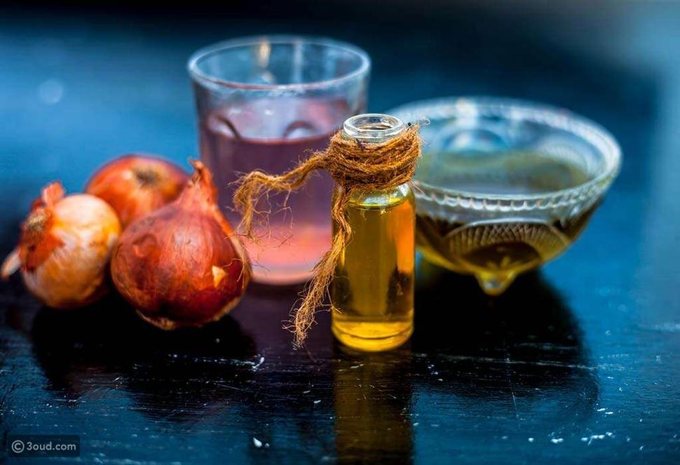 عصير البصل وزيت الزيتون
