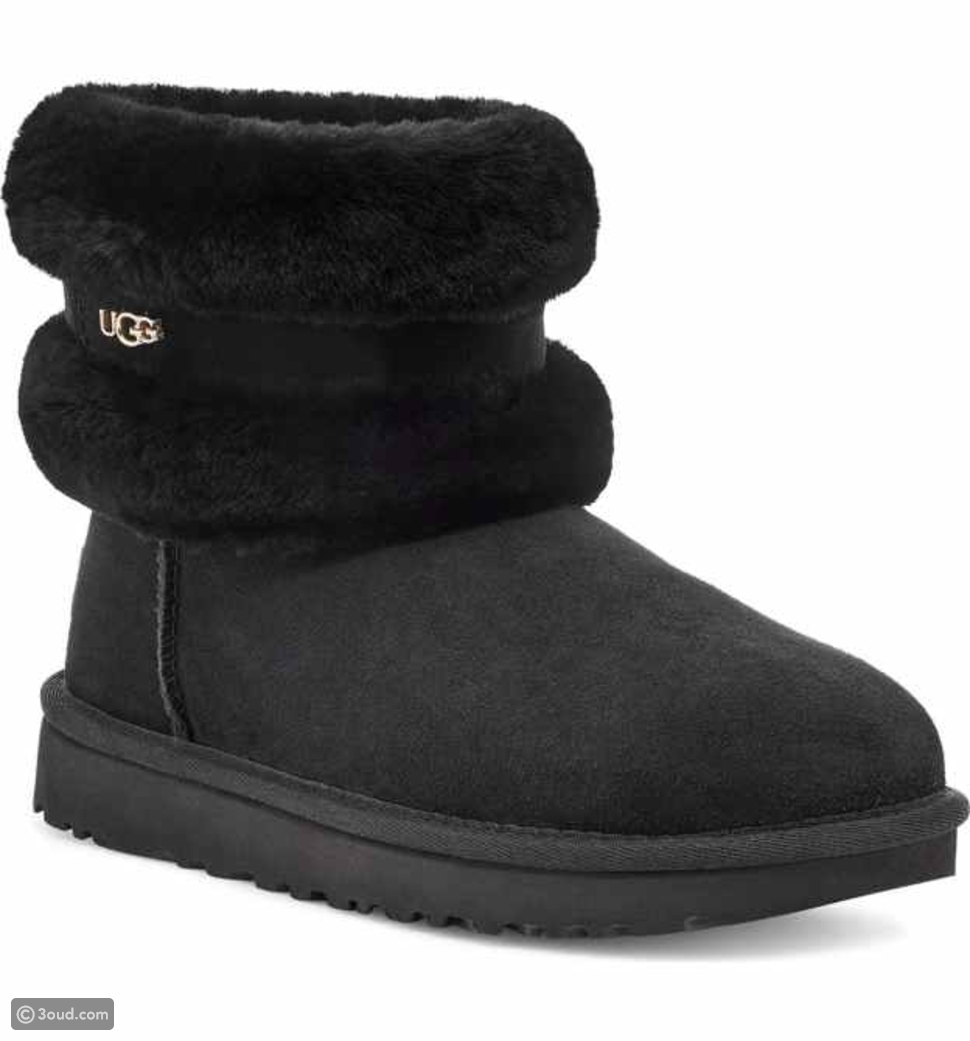 Classic Mini Fluff Genuine Shearling Belted Boots