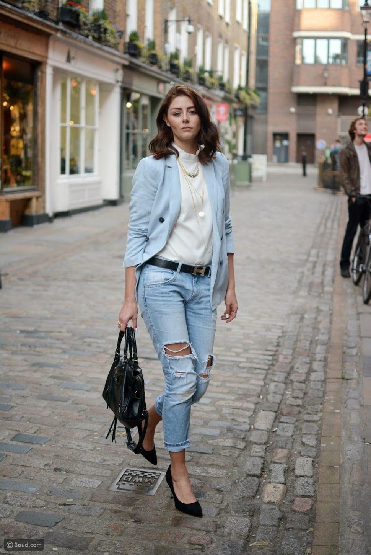 4 طرق مميزة لارتداء الجينز المقطع