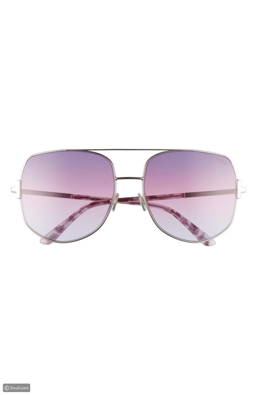 Tom Ford Oversized Tinted Aviator Sunglasses
