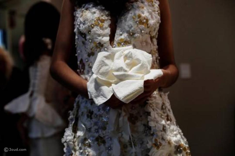 فساتين استثنائية في المسابقة السنويّة لأفضل فستان زفاف مصنوع من أوراق
