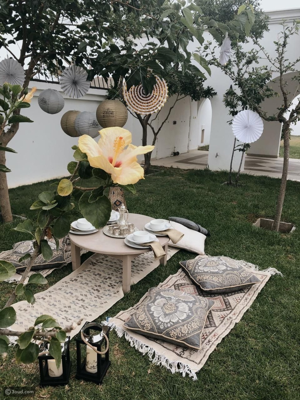 حديقة المنزل في رمضان