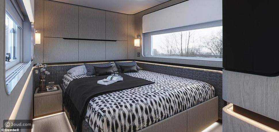 غرفة النوم في اليخت الفاخر