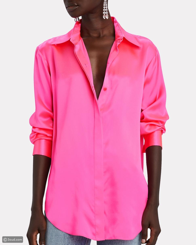 دوا ليبا أنيقة بقميص Valentino الوردي.. شاهدي كيف نسقته