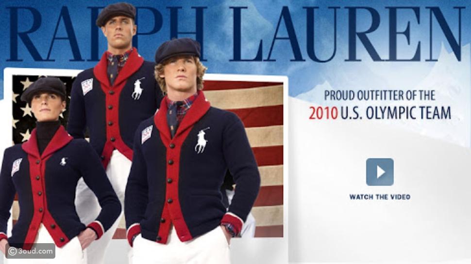 ملابس  من تصميم رالف لورين في الألعاب الأوليمبية