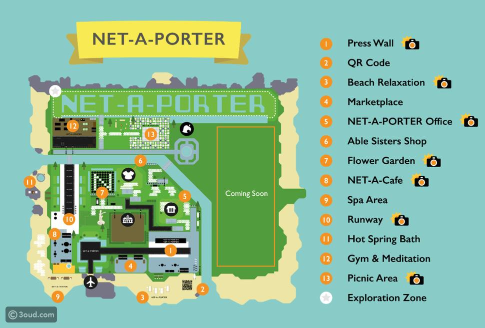 استكشفي جزيرة NET-A-PORTER في Animal Crossing