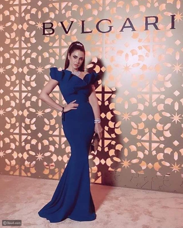 هيفاء الحسوني تعيد ارتداء فستان درة من تصميم زينة زكي
