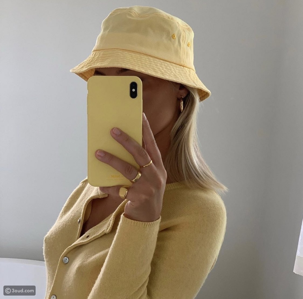 قبعات الدلو بألوان الباستيل