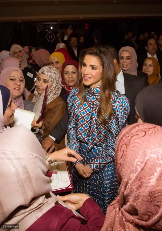 ملكة الأردن في زي بأقل من 70 أورو