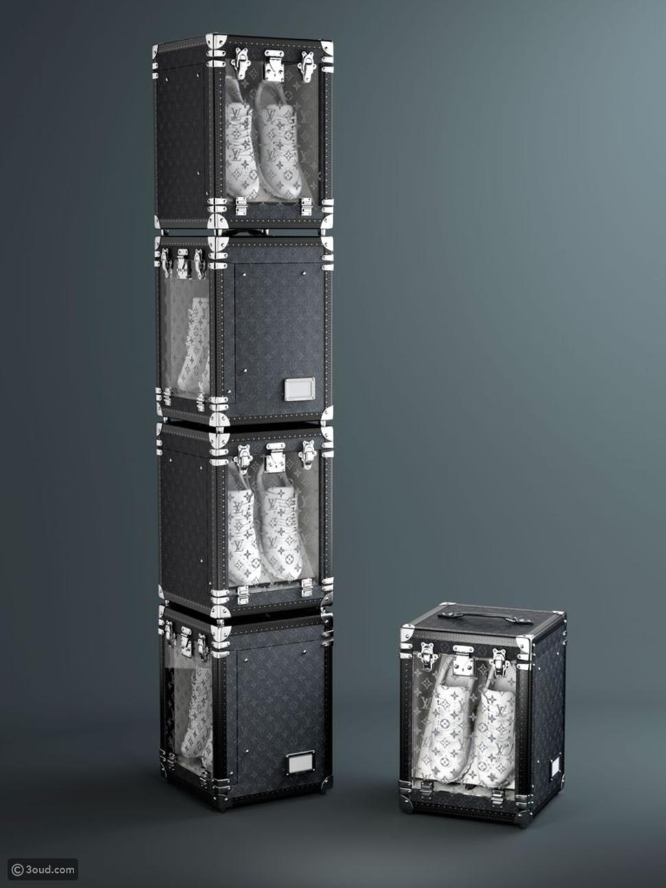 Louis Vuitton يصدر صندوقا أنيقا لحفظ الأحذية الرياضية