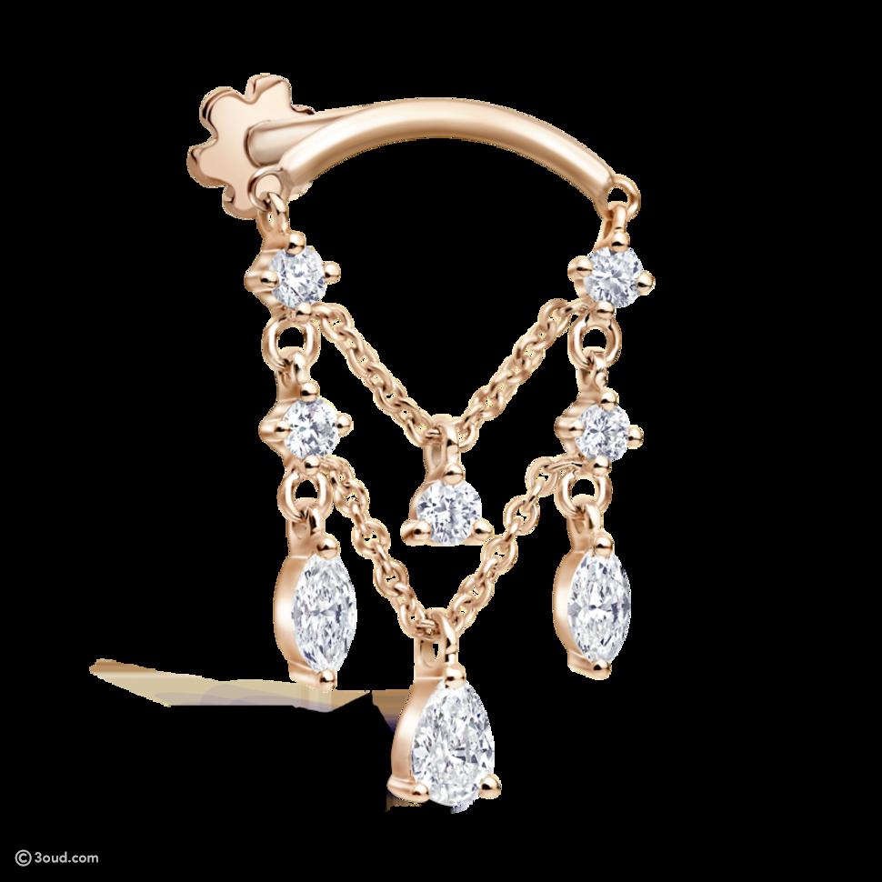 Maria Tash تقدّم سلاسل مميزة لتزيين الأذن بعدة قطع مجوهرات