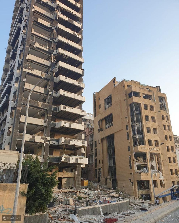 تهشم مبنى دار أزياء زهير مراد بسبب انفجار بيروت