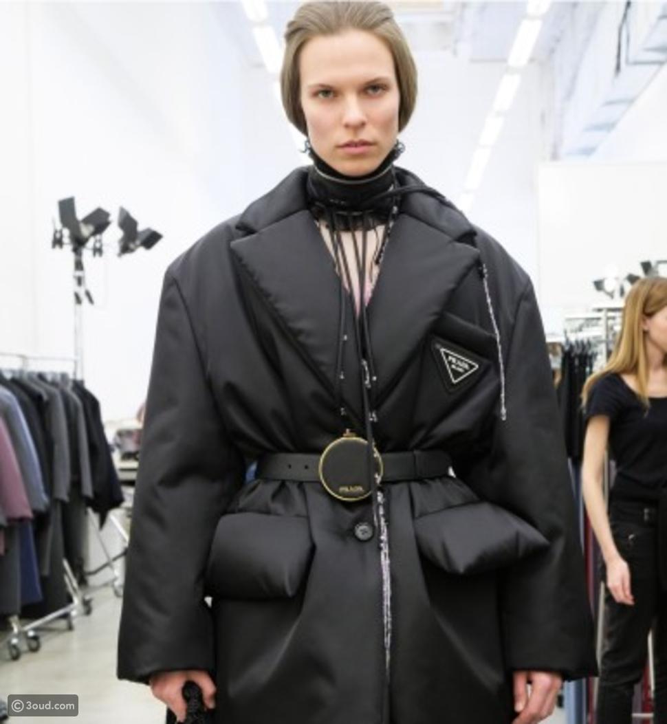 معطف منتفخ من Prada