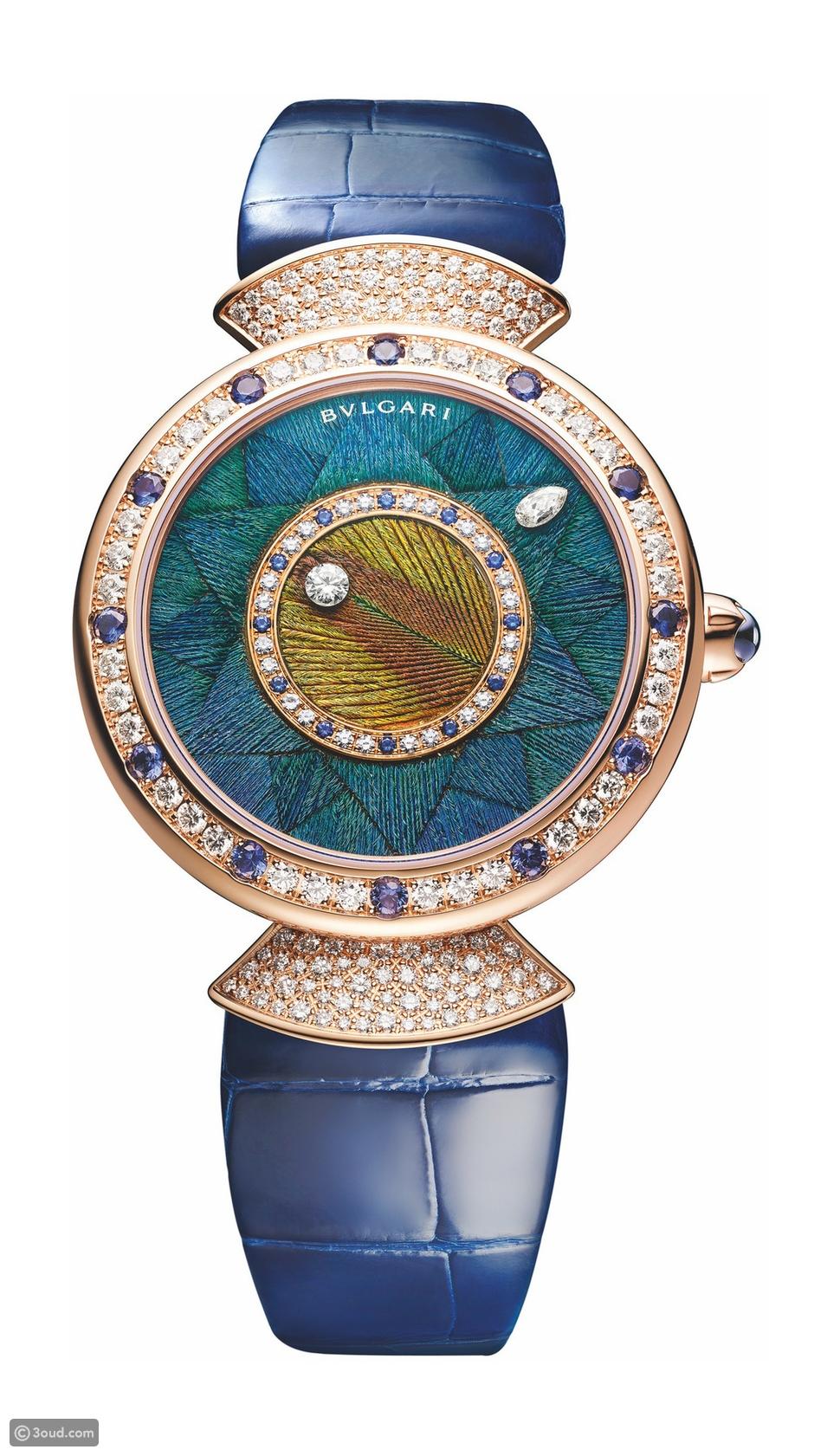 ساعة Divas' Dream Peacock Dischi من بولغاري
