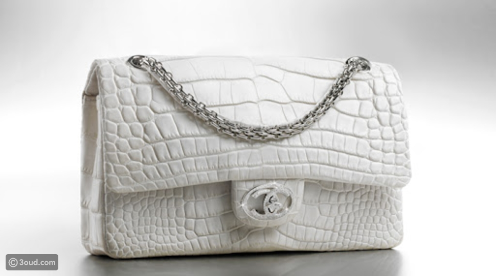 Limited edition Chanel Diamond bag decorated with 334 diamonds and with an18 karat gold carrying chain: $261,000 estimated value.
