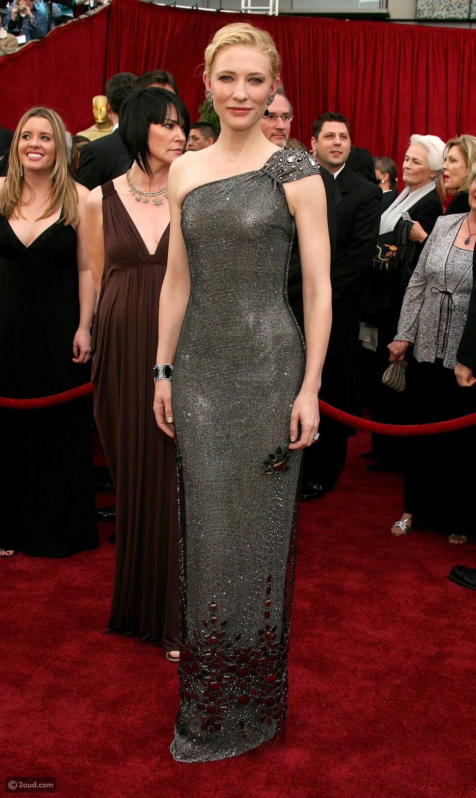 Armani Prive gown decorated with Swarovski crystals that was worn by Cate Blanchett at the 2007 Oscars  $250,000