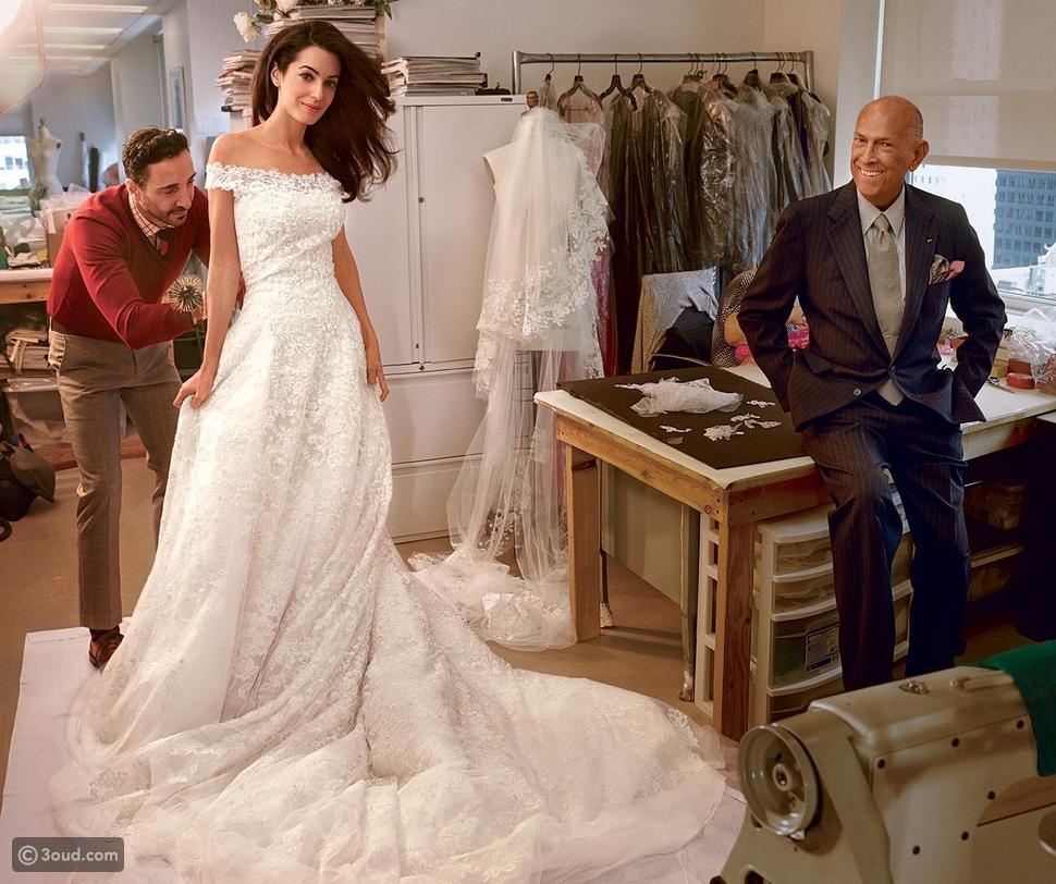 فستان زفاف أمل كلوني